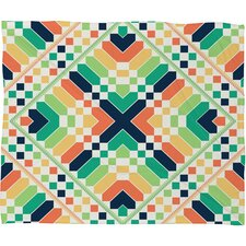 Budi Kwan Retrographic Rainbow Polyesterrr Fleece Throw Blanket