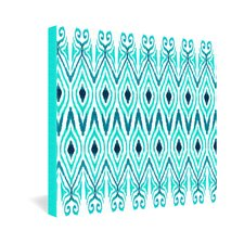 Amy Sia Ikat Jade Gallery Wrapped Canvas