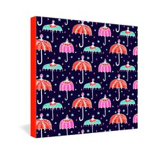 Rebekah Ginda Design Night Shower Gallery Wrapped Canvas