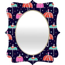 <strong>DENY Designs</strong> Rebekah Ginda Design Night Shower Quatrefoil Mirror