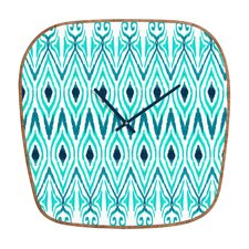 Amy Sia Ikat Jade Wall Clock