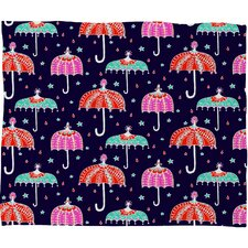 Rebekah Ginda Design Night Shower Polyesterrr Fleece Throw Blanket
