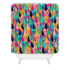 <strong>DENY Designs</strong> Vy La Love Birds 1 Woven Polyesterr Shower Curtain