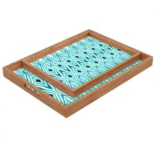 Amy Sia Ikat Jade Rectangular Tray