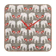 <strong>DENY Designs</strong> Holli Zollinger Elephant Umbrella Wall Clock