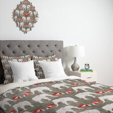<strong>DENY Designs</strong> Holli Zollinger Elephant and Umbrella Duvet Cover Collection