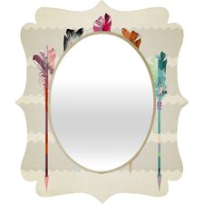 Iveta Abolina Feathered Arrows Quatrefoil Mirror