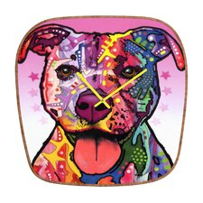 <strong>DENY Designs</strong> Dean Russo Cherish The Pitbull Wall Clock