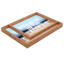 Leah Flores Breathe Rectangular Tray