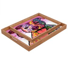Dean Russo Cherish The Pitbull Rectangular Tray