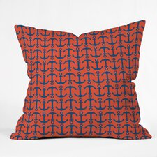 Andrea Victoria Ahoy Anchors Throw Pillow