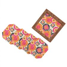Andrea Victoria Summer Tango Floral Coaster (Set of 4)