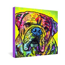 Hey Bulldog by Dean Russo Graphic Art on Canvas