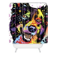 <strong>DENY Designs</strong> Dean Russo Border Collie Polyesterrr Shower Curtain