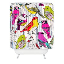 <strong>DENY Designs</strong> Mary Beth Freet Couture Home Birds Woven Polyesterrr Shower Curtain