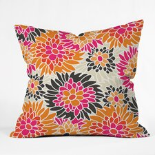 Andrea Victoria Summer Tango Floral Throw Pillow