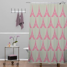 Bianca Woven Polyester Oui Oui Shower Curtain