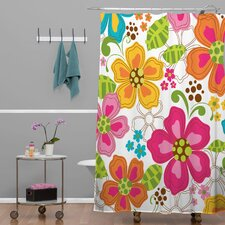 Khristian A Howell Woven Polyester Kaui Blooms Shower Curtain