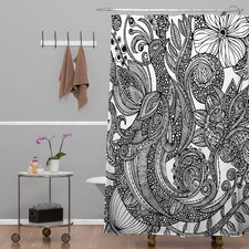 Valentina Ramos Woven Polyester Bird in Flowers Shower Curtain