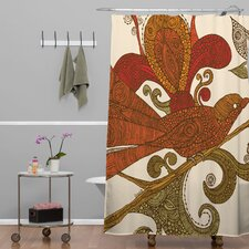 Valentina Ramos Woven Polyester Bird Shower Curtain
