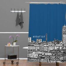 Bird Ave Woven Polyester Ann Arbor Shower Curtain
