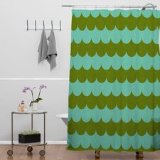 Holli Zollinger Woven Polyester Waves of Color Shower Curtain