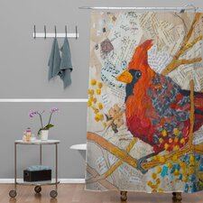 Elizabeth St Hilaire Nelson Cardinal Polyester Shower Curtain