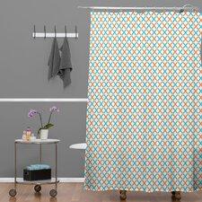 Tammie Bennett Polyester X Check Shower Curtain