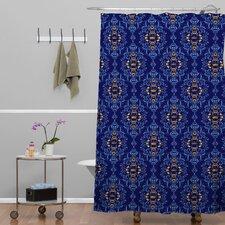 Belle13 Royal Damask Pattern Polyester Shower Curtain