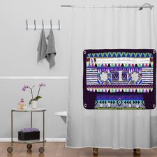 Bianca Woven Polyester Mix Tape No 10 Shower Curtain