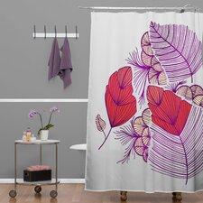 Gabi Sea Leaves Polyester Shower Curtain
