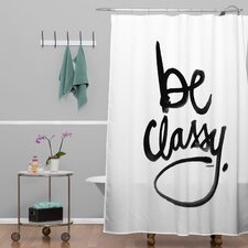 Kal Barteski Woven Polyester Be Classy Shower Curtain