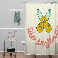 Wesley Bird Polyester Die Trying Shower Curtain