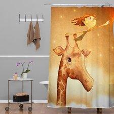 Jose Luis Guerrero Woven Polyester Star 1 Shower Curtain