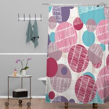 Rachael Taylor Polyester Textured Geo Shower Curtain