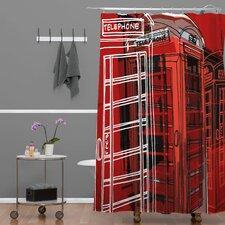 Aimee St Hill Phone Box Polyester Shower Curtain
