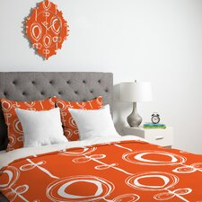 <strong>DENY Designs</strong> Rachael Taylor Contemporary Orange Duvet Cover Collection