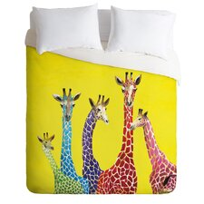 Clara Nilles Jellybean Giraffes Duvet Cover Collection