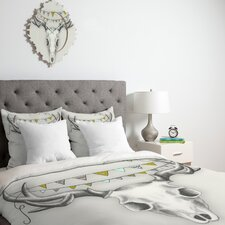 <strong>DENY Designs</strong> Wesley Bird Skull Duvet Cover Collection