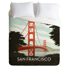 Anderson Design Group San Francisco Microfiber Duvet Cover