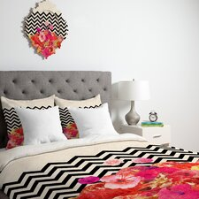 <strong>DENY Designs</strong> Bianca Green Chevron Flora 2 Duvet Cover Collection