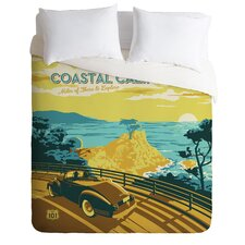 Anderson Design Group Coastal California Microfiber Duvet Cover