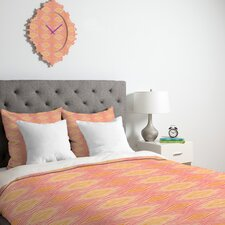 <strong>DENY Designs</strong> Cori Dantini Orange Ikat 4 Duvet Cover Collection