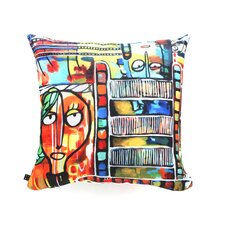Robin Faye Gates Musical Chairs Polyester Throw Pillow