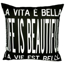 <strong>Uptown Artworks</strong> Life is Beautiful Pillow