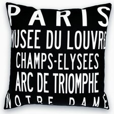 <strong>Uptown Artworks</strong> Paris Landmarks Pillow