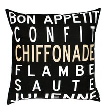 <strong>Uptown Artworks</strong> Bon Appetit Pillow