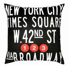 <strong>Uptown Artworks</strong> Times Square Pillow