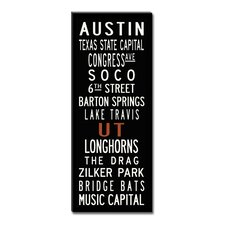 Austin Textual Art on Canvas