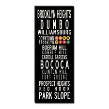 Brooklyn Neighbordhoods Textual Art on Canvas